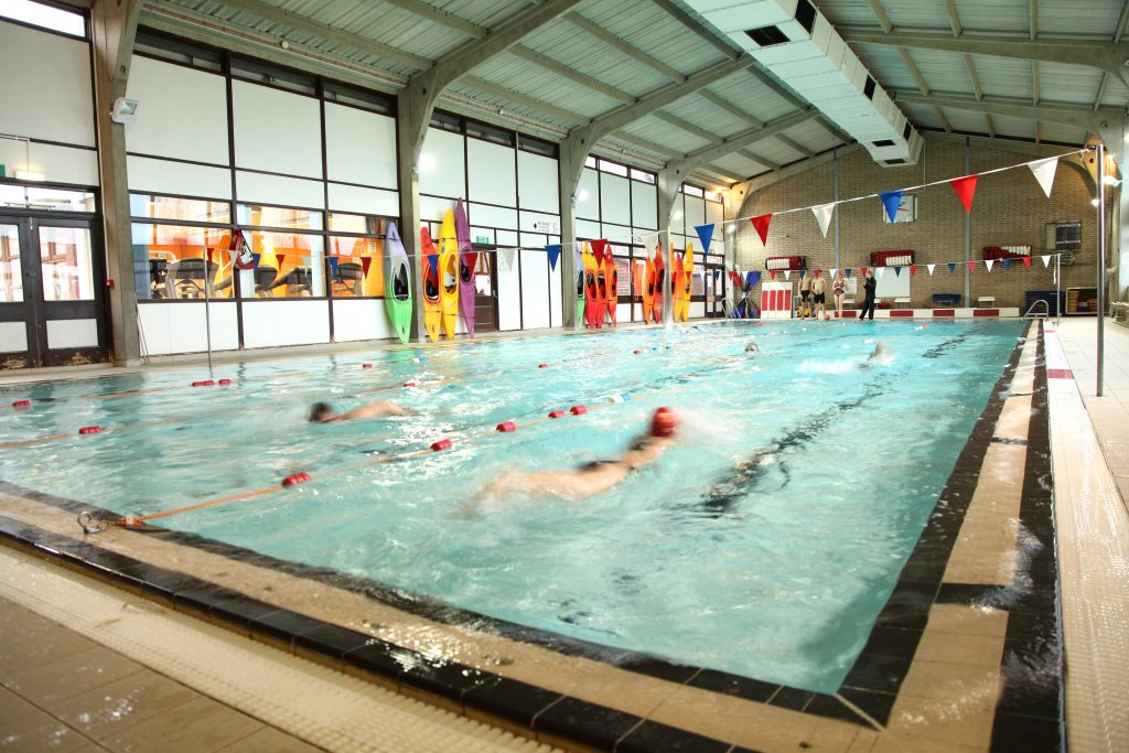 Large indoor swimming pool, Oakham School