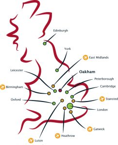 Oakham School Location Map